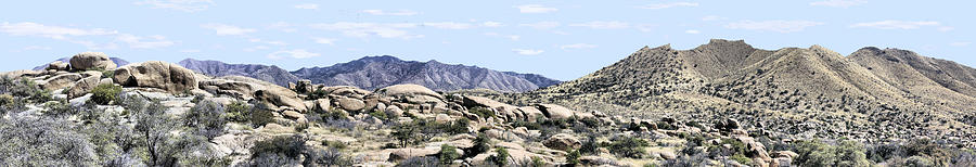 Southwest Photograph - Dragoon Mountains Panorama by Sharon Broucek
