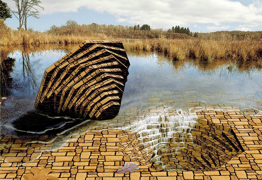 Drain Digital Art - Drain - Mendon Ponds by Peter J Sucy