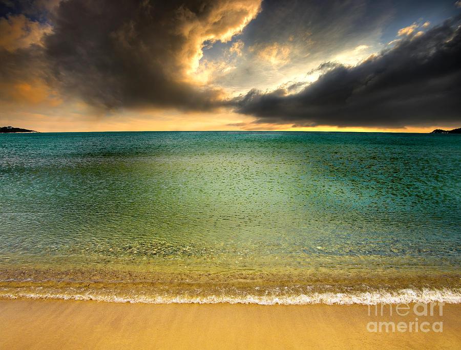 Beach Photograph - Drama At The Beach by Meirion Matthias