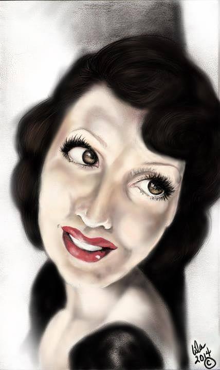 Pin Up Digital Art - Drama Girl by Lila Sandoval