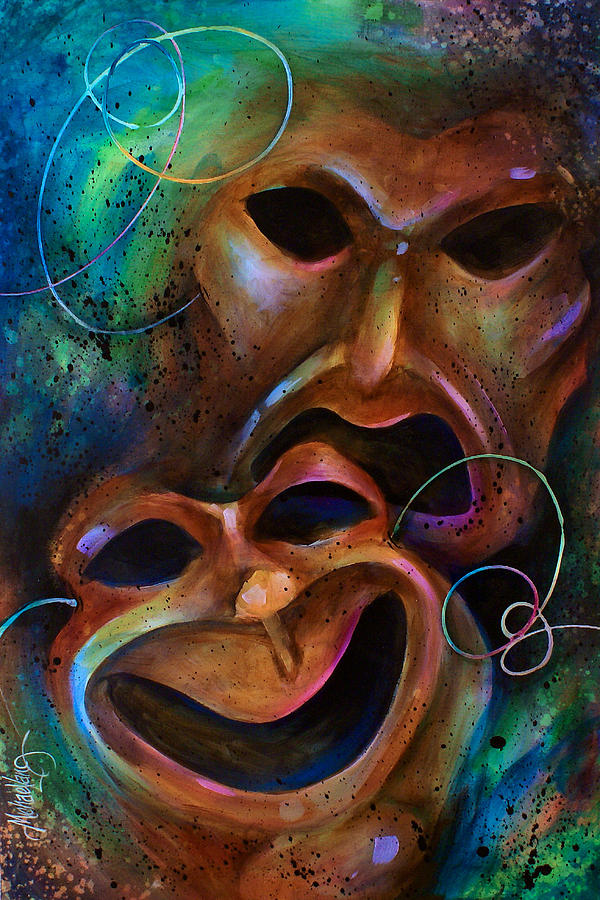Drama Painting By Michael Lang