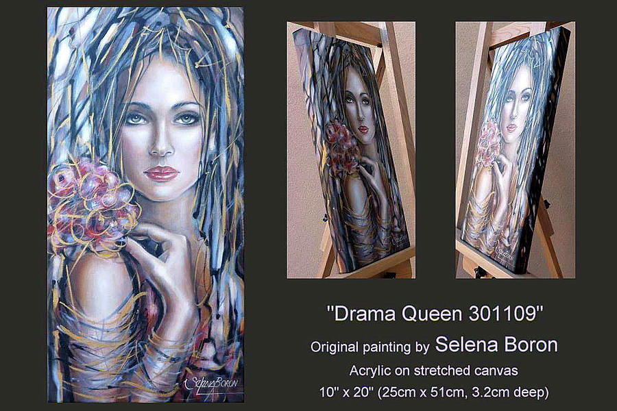 Woman Painting - Drama Queen 301109 by Selena Boron