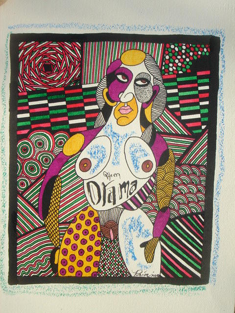 Drama Queen Mixed Media by Houston Prior