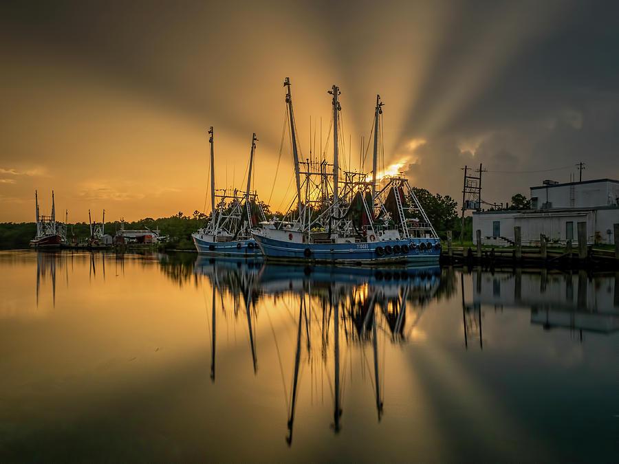 Dramatic Bayou Sunset by Brad Boland