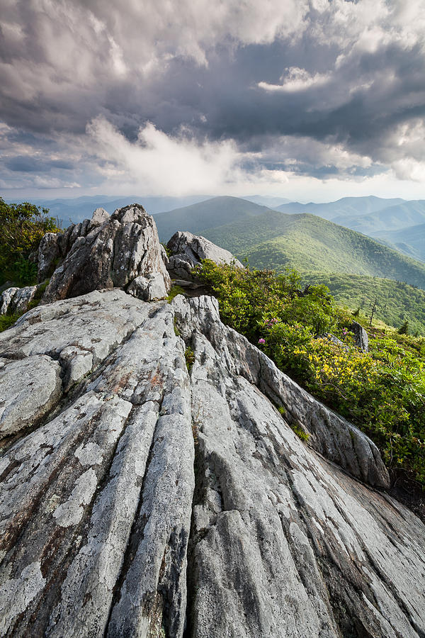Blue Ridge Mountains Photograph - Dramatic Blue Ridge Mountain Scenic by Mark VanDyke