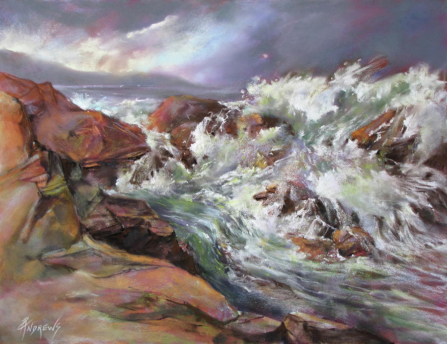 Seascape Painting - Dramatic Entrance by Rae Andrews