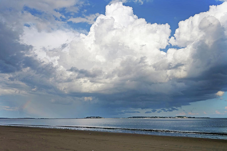 Dramatic Puffy Clouds over Nahant from Revere Beach Revere MA by Toby McGuire