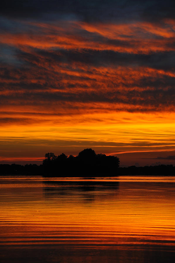 Sunset Photograph - Dramatic Sunset by M James McAdams