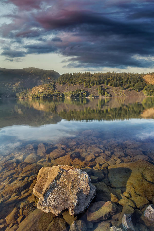 Washington Photograph - Drano Lake In Washington State by David Gn