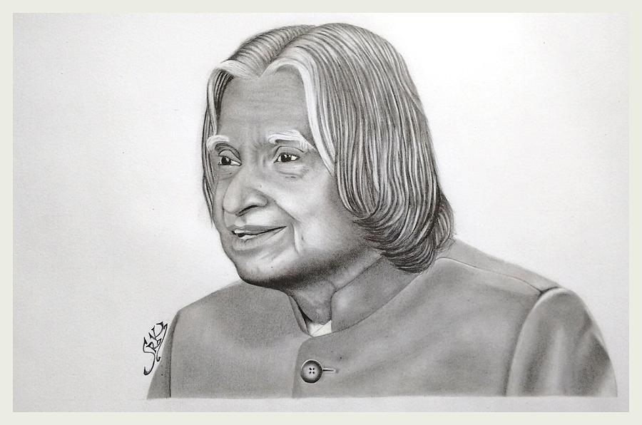 Portrait Drawing Of Apj Abdul Kalam
