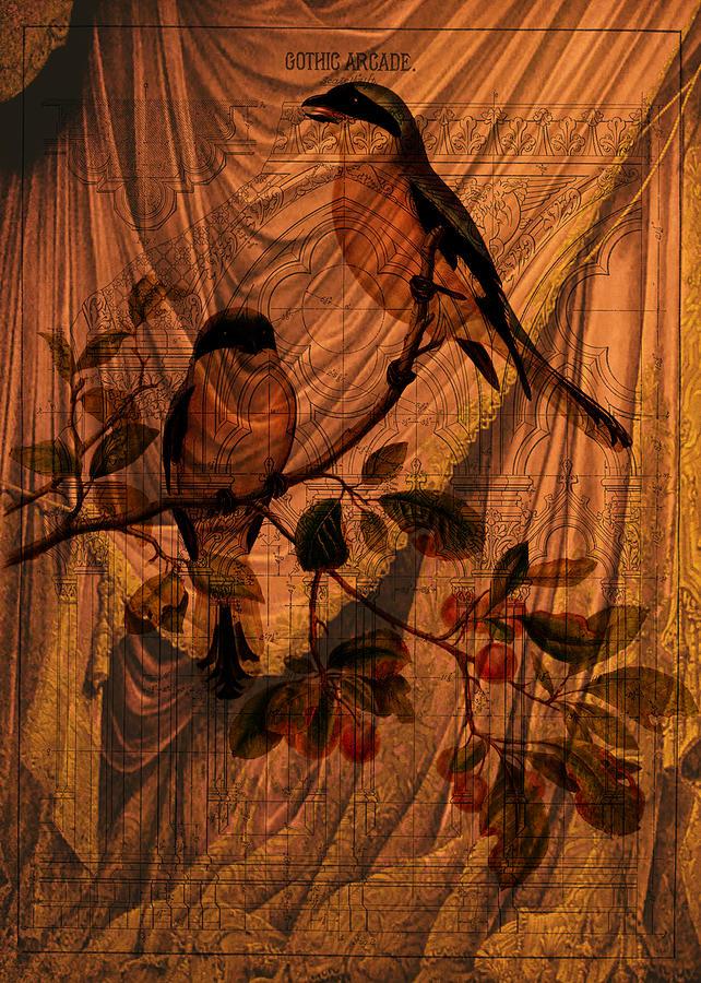 Curtain Digital Art - Draw Back the Curtain by Sarah Vernon