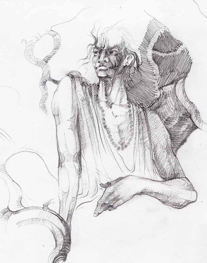 Drawing-1 Drawing by Satyabrata Adhikary