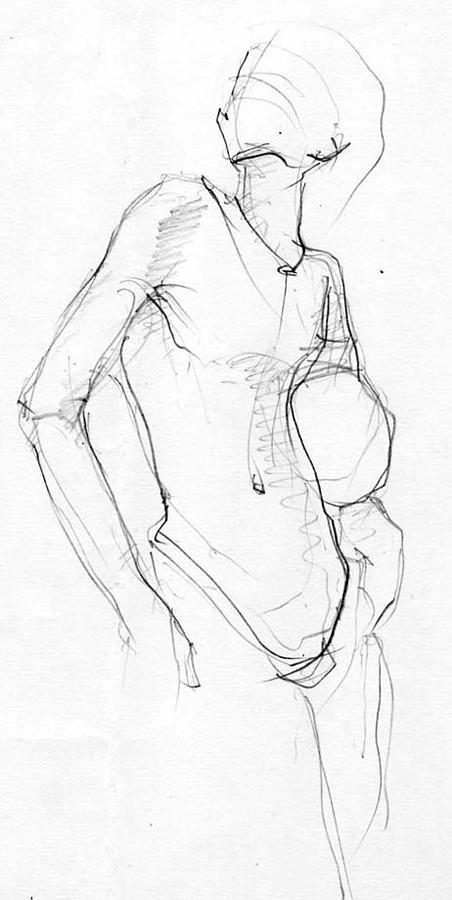 Drawing-3 Drawing by Satyabrata Adhikary