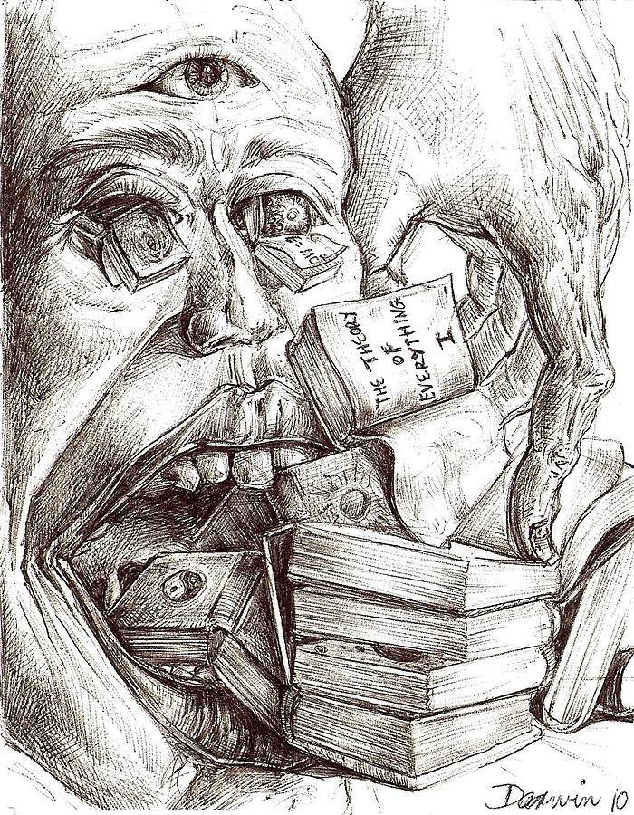 Surrealism Drawing - Drawing 7 by Darwin Leon