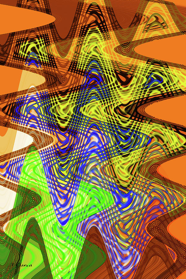 Art Design Digital Art - Drawing Color Squares Abstract by Tom Janca