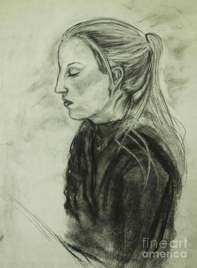 Drawing of an Artist by Angelique Bowman