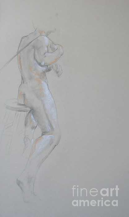 Life Drawing Pastel - Drawing Of Male Back by Victoria Sheridan