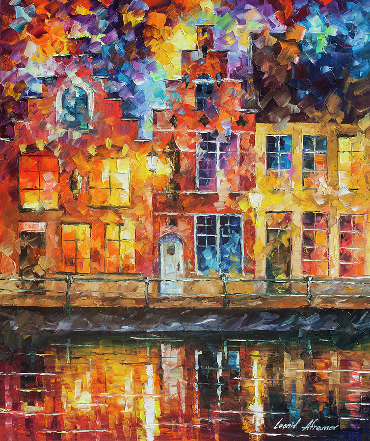 Painting Painting - Drawing The Town  by Leonid Afremov