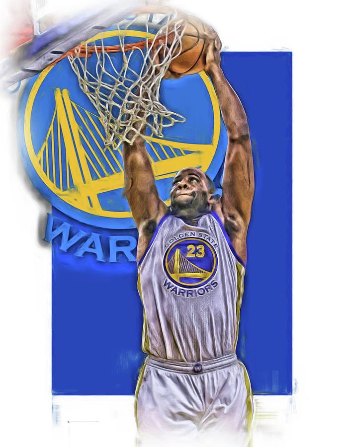 4877f0c1dff Draymond Green Golden State Warriors Oil Art Mixed Media by Joe ...