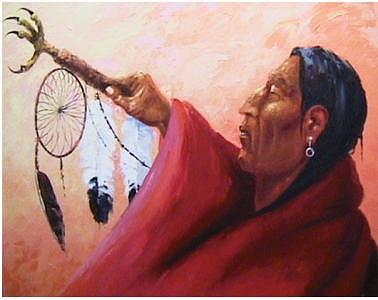Native American Painting - Dream Catcher by Gordon Sage