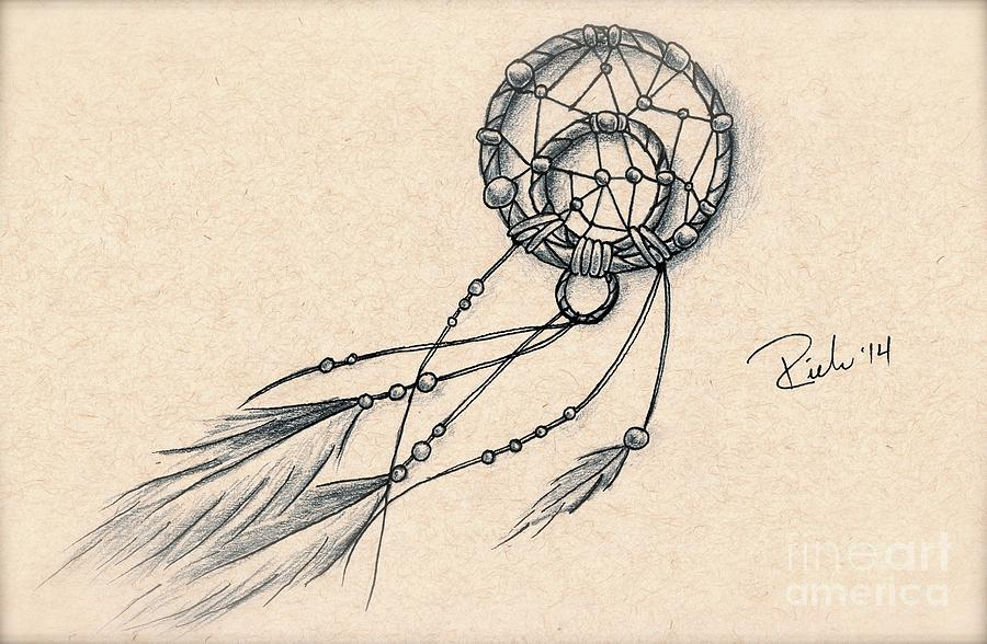 dream catcher drawing by sarah derrie