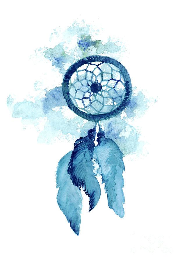 Dream Catcher Watercolor Art Print Painting Painting by ...