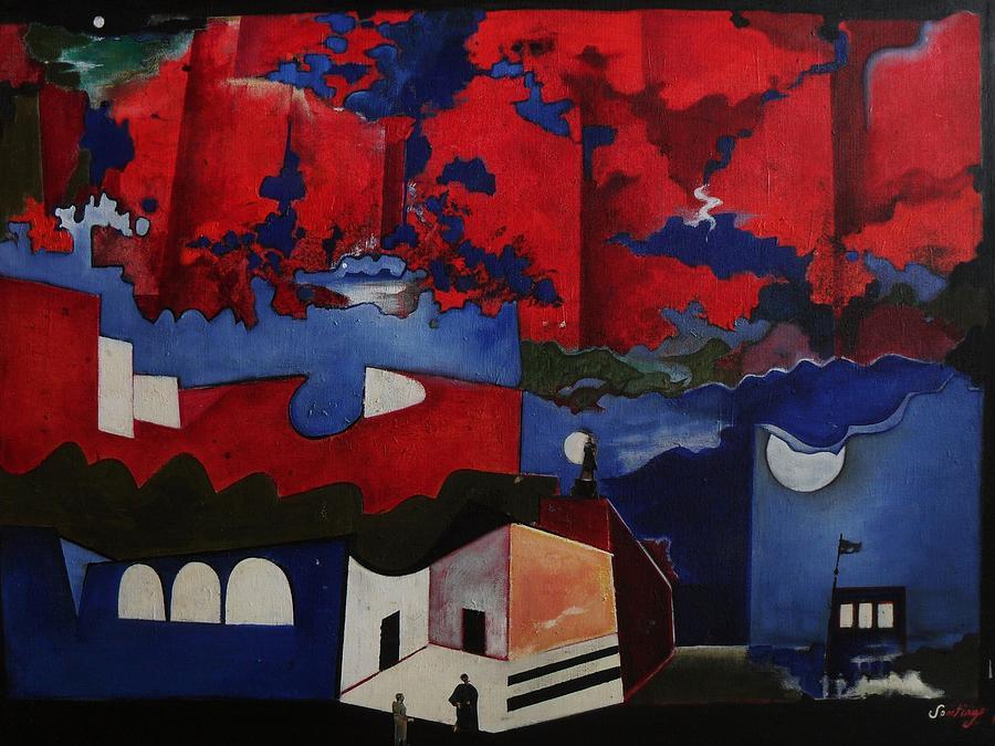 Dream City Painting by Adalardo Nunciato  Santiago