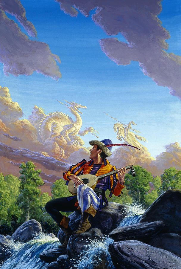 Fantasy Painting - Dream Clouds by Richard Hescox