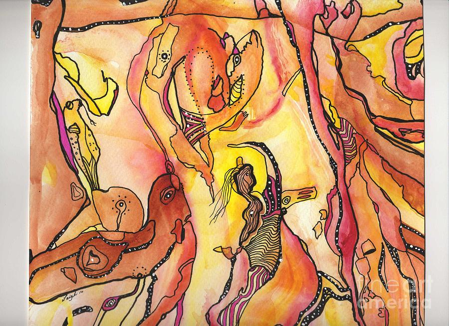 Dream Creatures Painting by Deborah Leigh