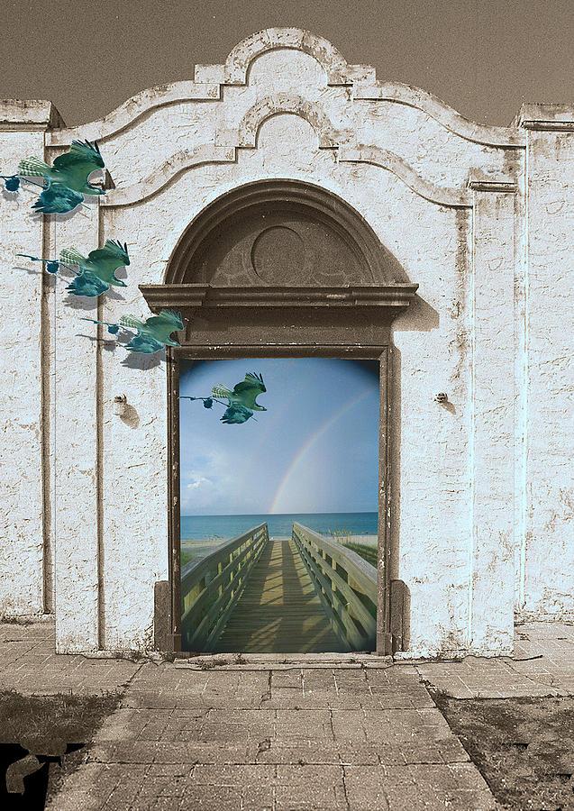 Surreal Digital Art - Dream Facade by Richard Nickson