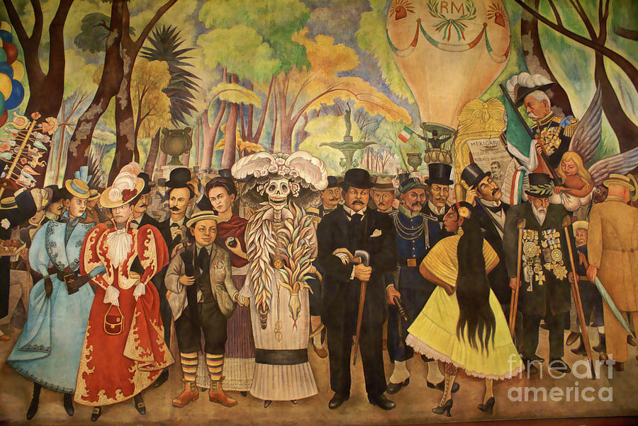 Mexico City Photograph - Dream In The Alameda Diego Rivera Mexico City by John  Mitchell