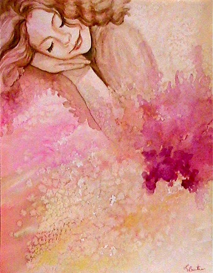 Portrait Painting - Dream by L Lauter