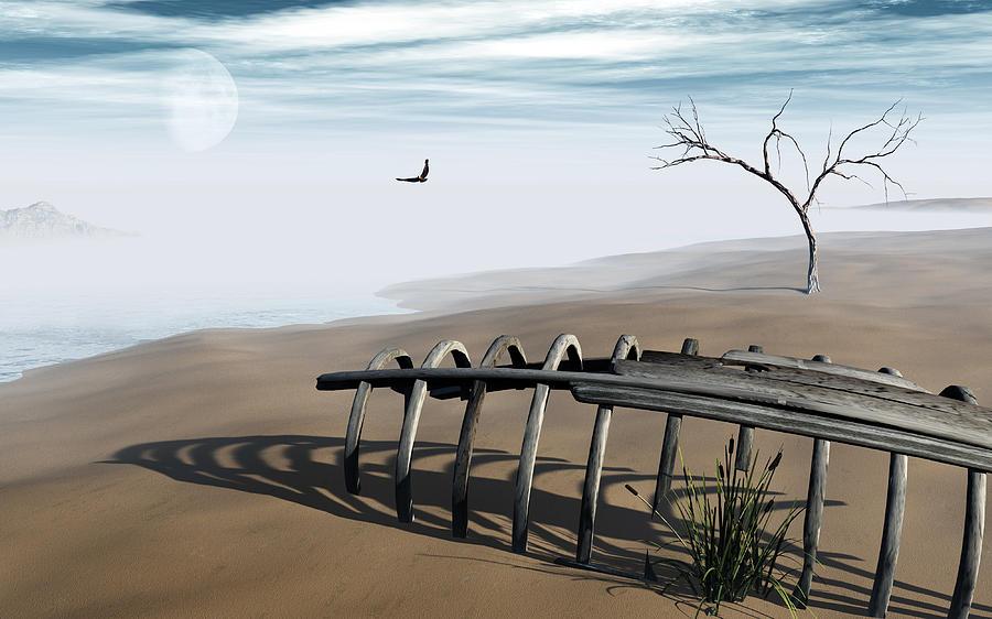 Surreal Digital Art - Dream Lake by Richard Rizzo