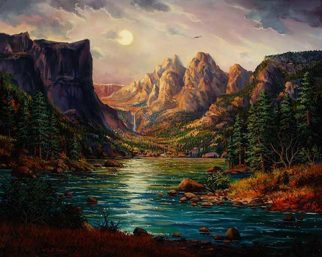 Dream Lake Painting by W  Scott Fenton