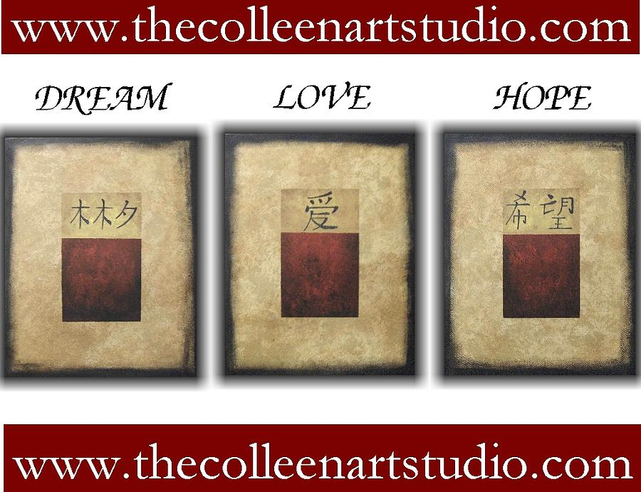 Asian Painting - Dream Love Hope by Colleen Winning