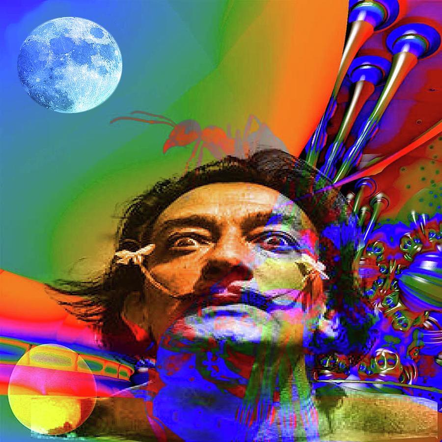 Portrait Digital Art - Dream Of Salvador Dali by Matthew Lacey