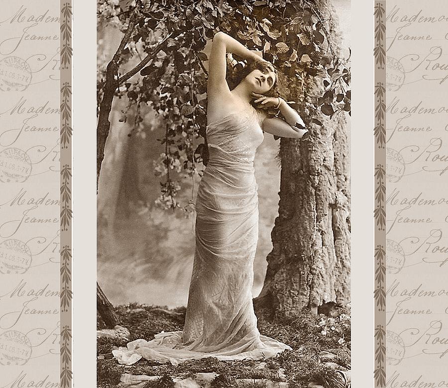 Vintage Photograph - Dream Of The Night by Mary Morawska