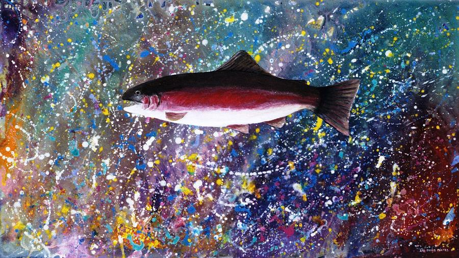 Spiritual Painting - Dream Of The Rainbow Trout by Lee Pantas