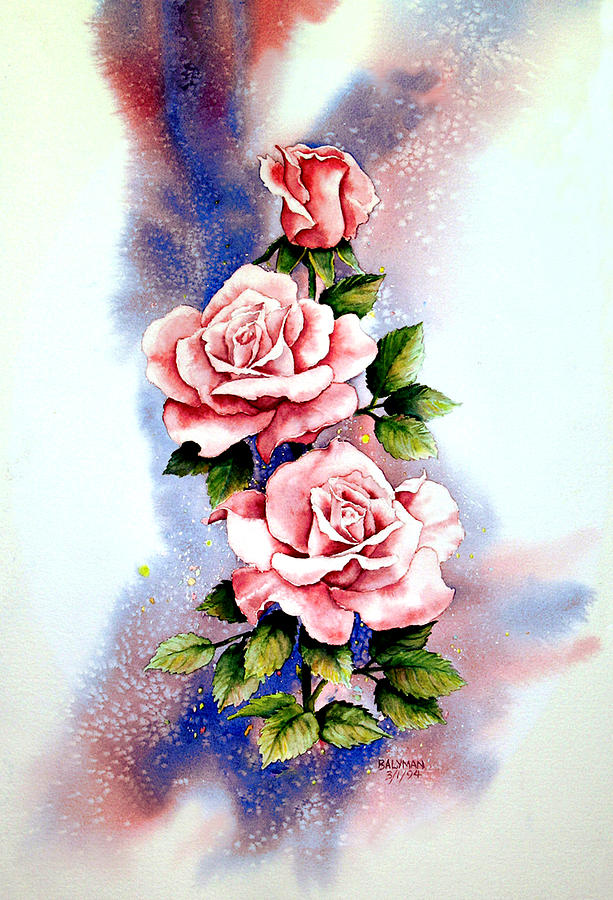 Floral Painting - Dream Roses by Brooke Lyman
