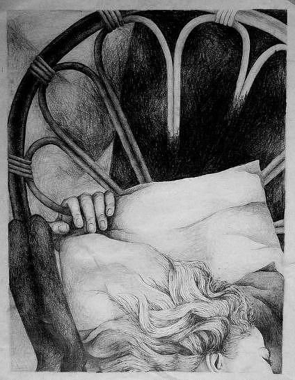 Surrealism Drawing - Dream Sequence IIi by Tracey Flanigan