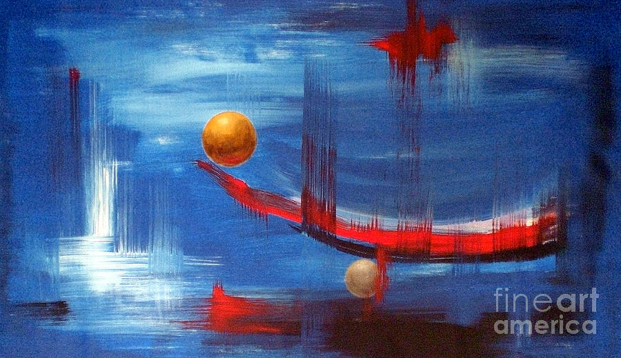 Original Painting - Dream Ship by Arturas Slapsys