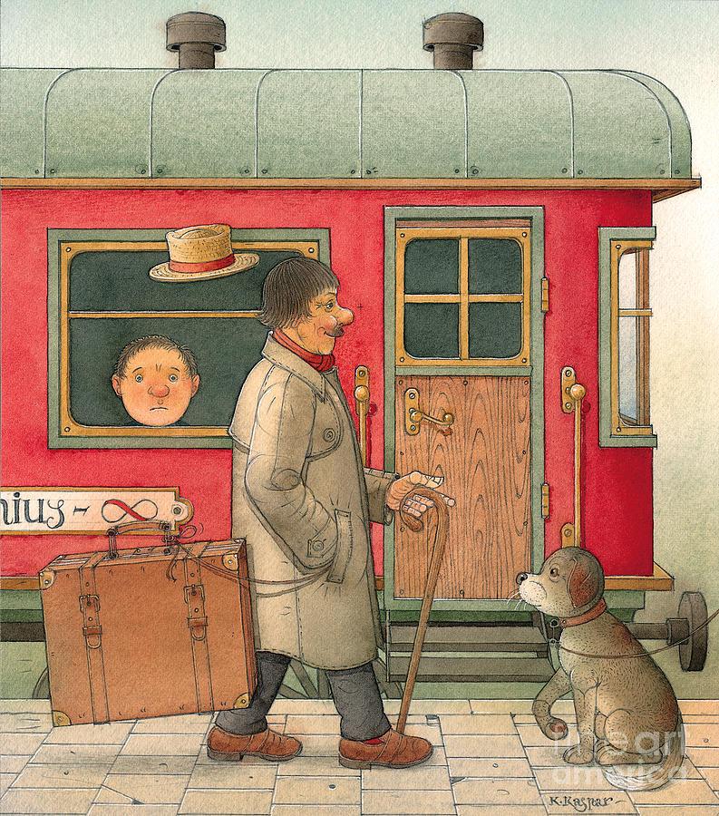 Dream Suitcase Painting by Kestutis Kasparavicius