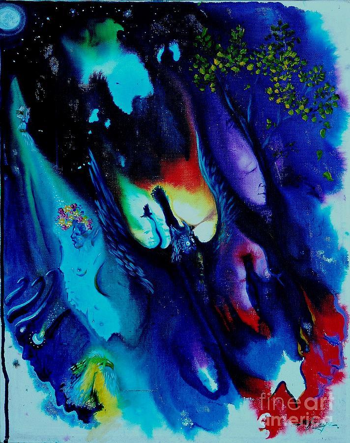 Dream Painting - Dream Wizard by Sofanya White