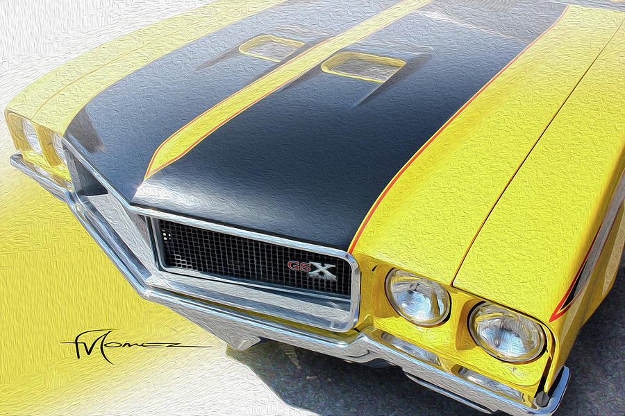 Streakin Yellow Buick Photograph by Felipe Gomez