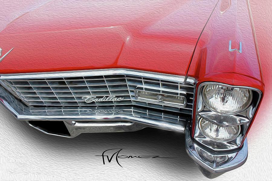 Cadillac Photograph - Redhead Cadillac by Felipe Gomez