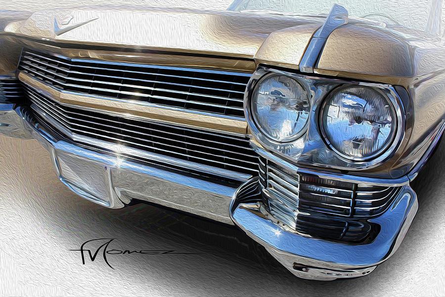 Cadillac Photograph - Chrome Lines by Felipe Gomez