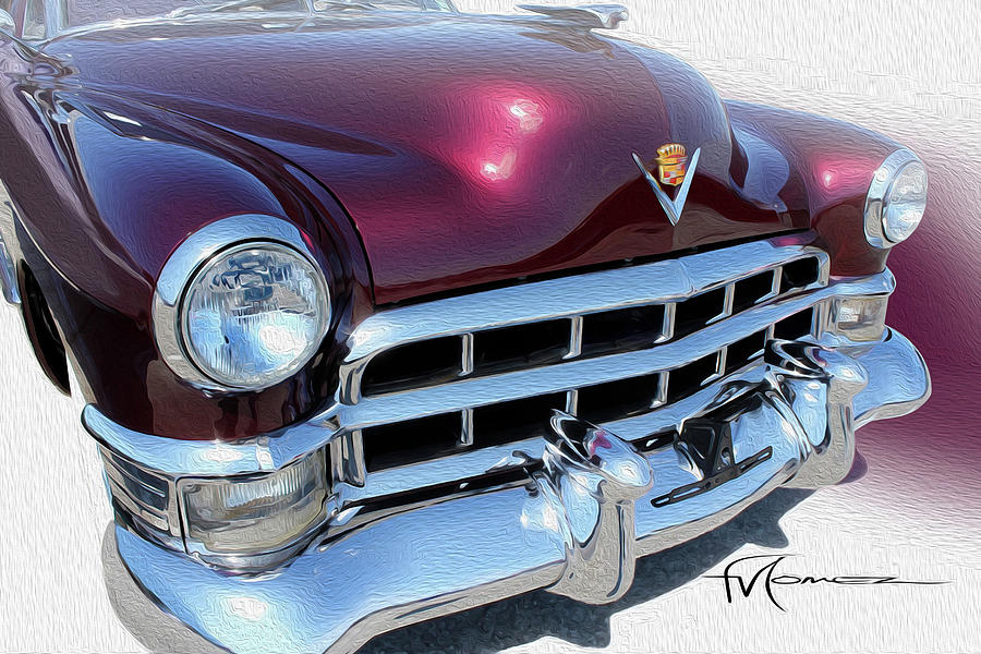 Cadillac Photograph - Round Dark Cherry by Felipe Gomez