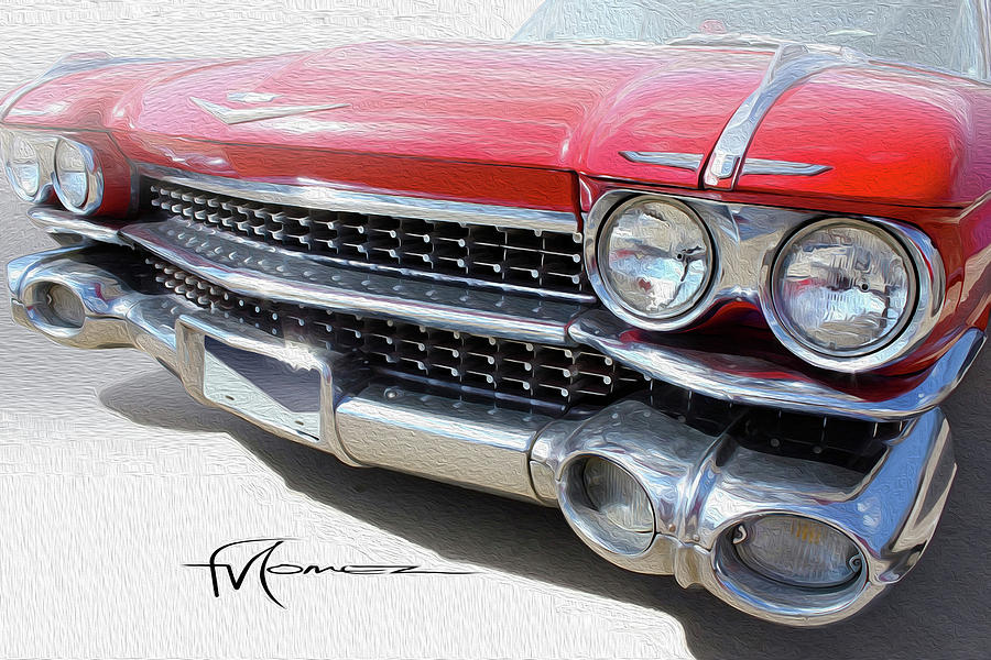 Cadillac Photograph - Red Quad Lights by Felipe Gomez