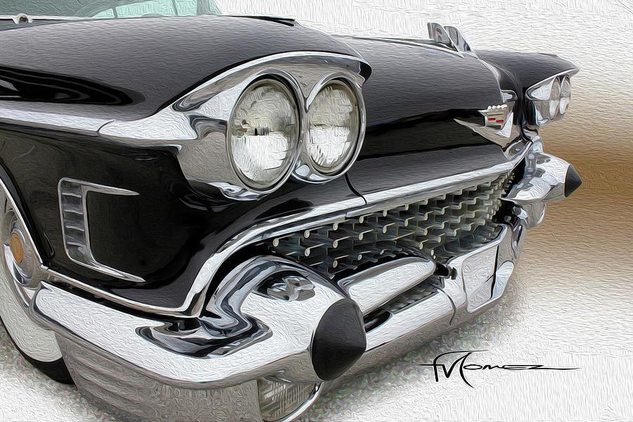 Cadillac Photograph - Black Lace by Felipe Gomez