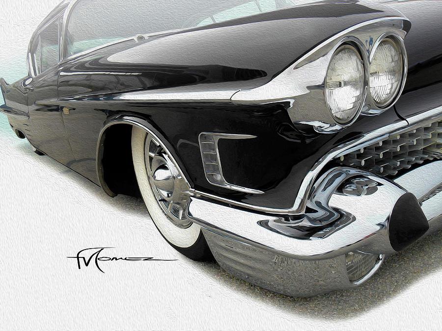 Cadillac Photograph - Gleaming Glamour  by Felipe Gomez
